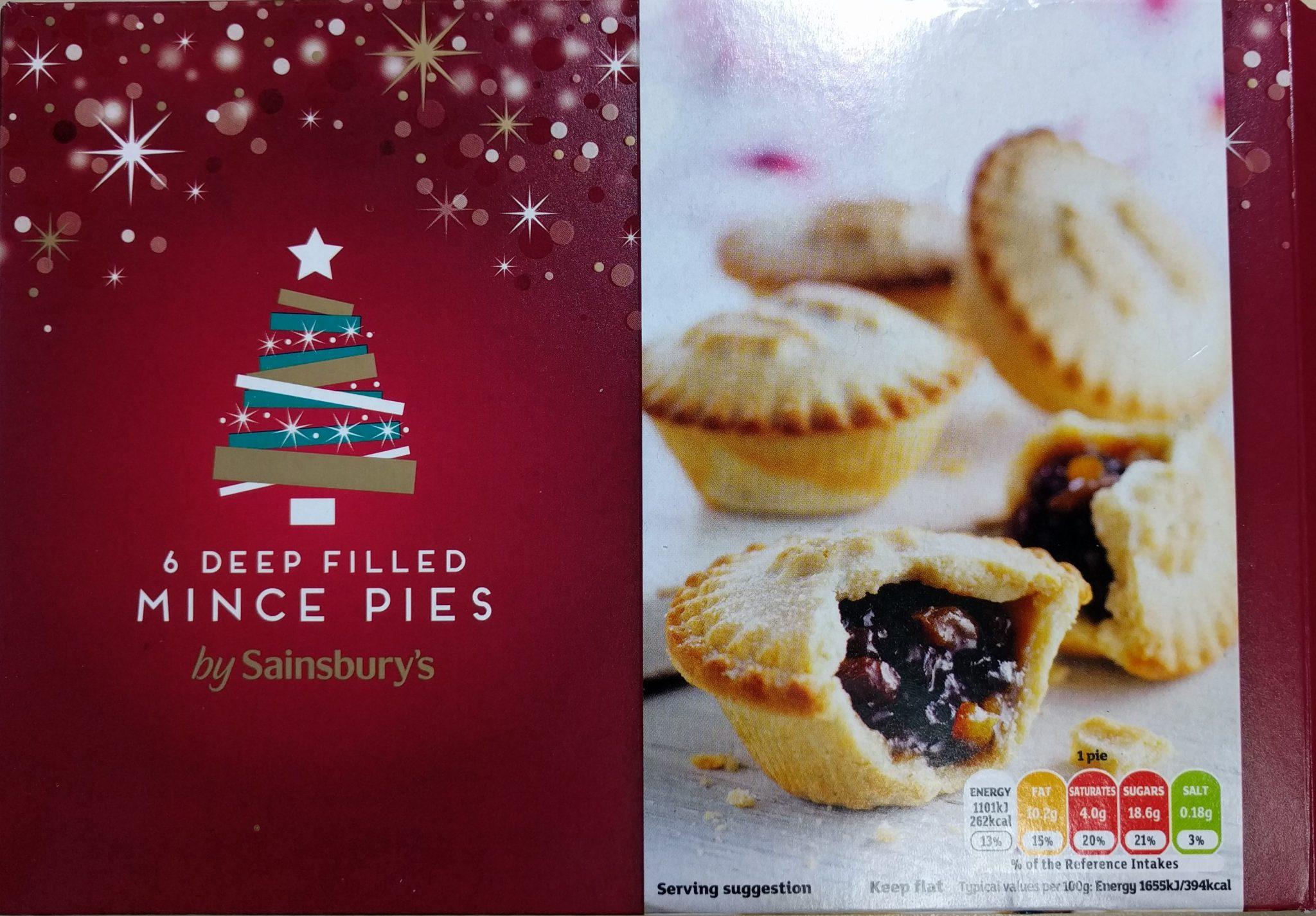 Sainsbury's Deep Filled Mince Pie Box