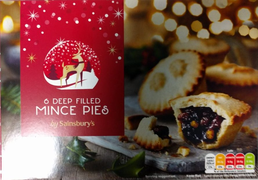 2017 Sainsbury's Deep Filled Mince Pies Box