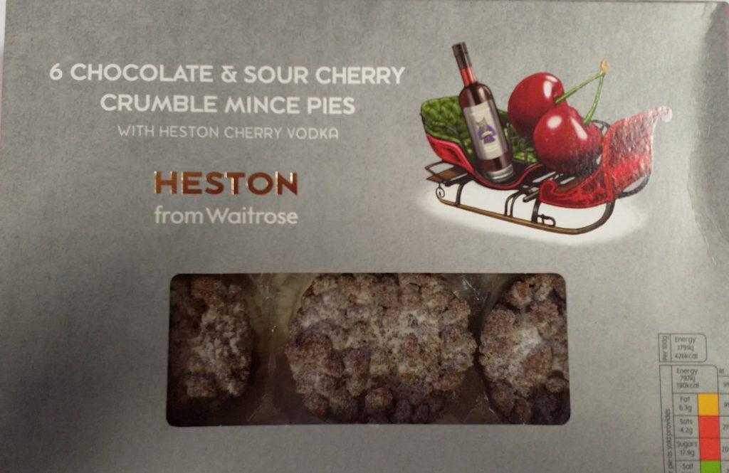 2019 Heston Chocolate & Sour Cherry Crumble Mince Pie Box 1
