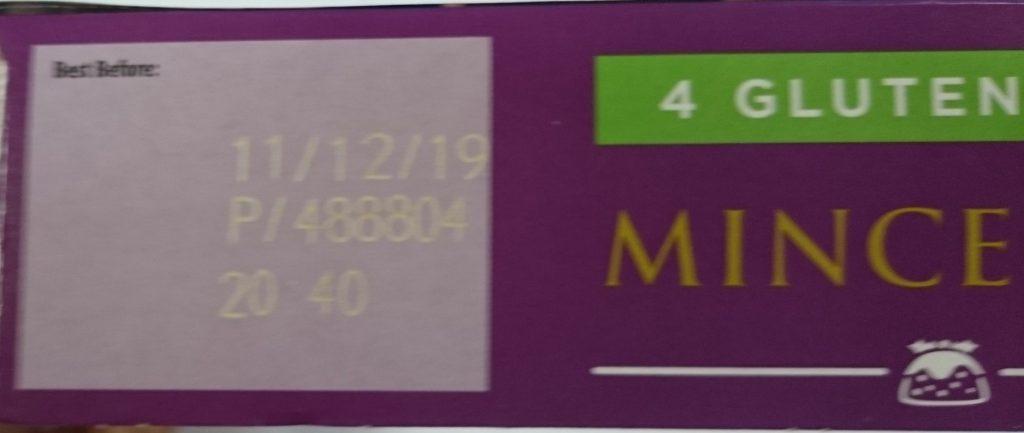 2019 Aldi Free From 4 Gluten Free Mince Pie Best Before Date