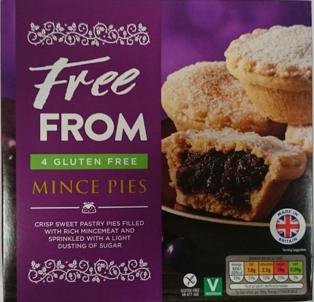 2019 Aldi Free From 4 Gluten Free Mince Pie Box 1