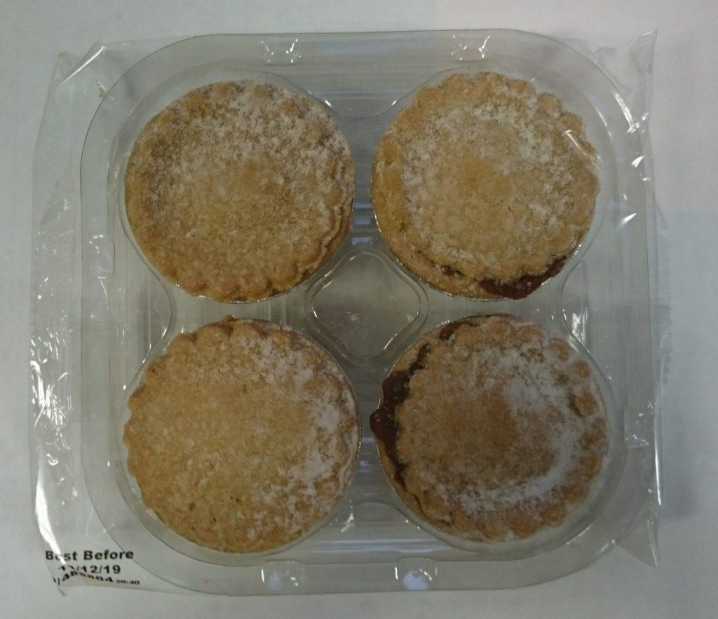 2019 Aldi Free From 4 Gluten Free Mince Pie Packaging 1