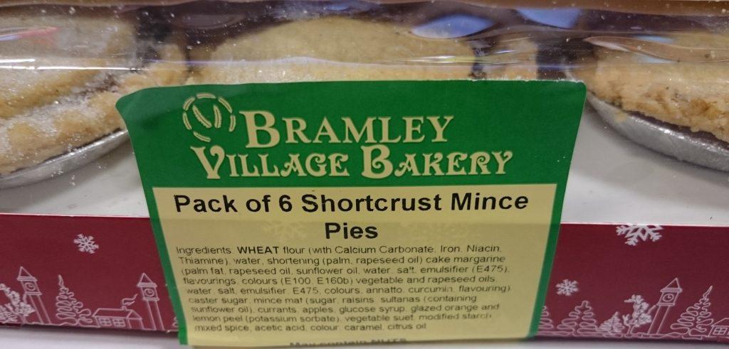 2019 Bramley Village Bakery Shortcrust Mince Pie Box 2