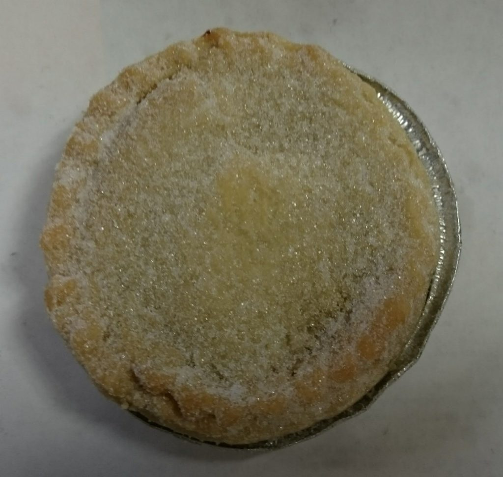 2019 Sainsbury's Bakery Baked in store Mince Pie 1
