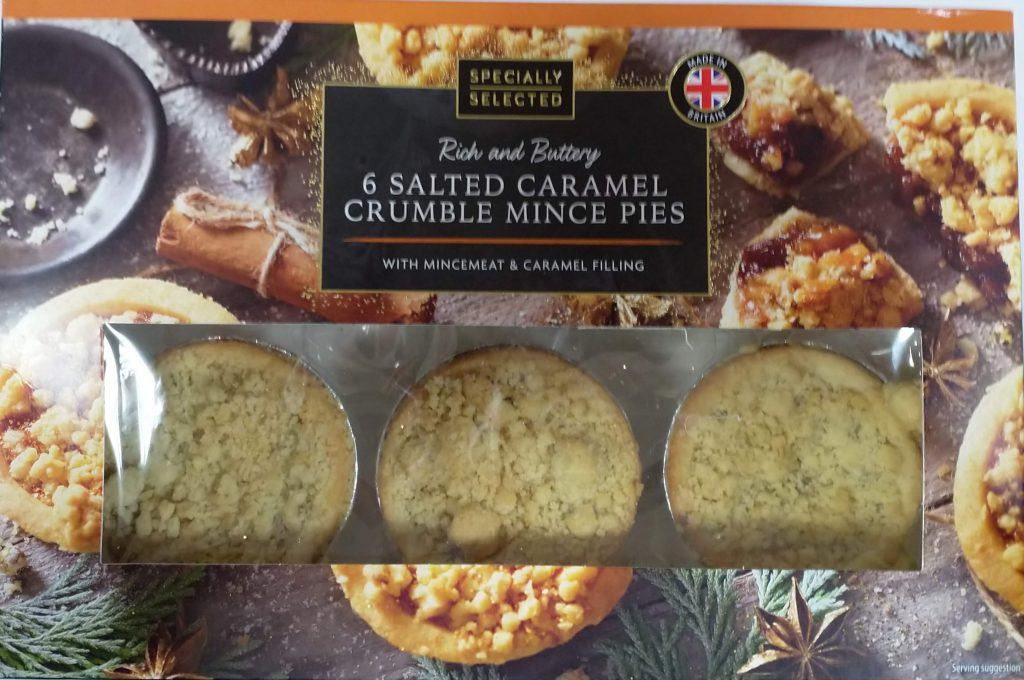2019 Aldi Specially Selected Salted Caramel Crumble Mince Pies Box 1