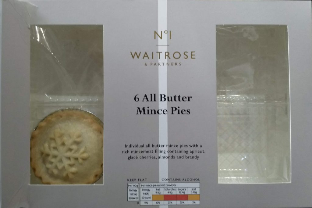 2019 Waitrose No1 All Butter Mince Pies Box 1